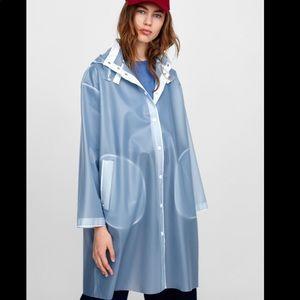 Zara Transparent raincoat NWT